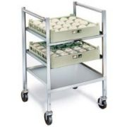 Lakeside Stainless Steel Mobile Glass and Cup Rack, 5 Rack Capacity -- 1 each.