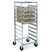 Lakeside Stainless Steel Mobile Glass and Cup Rack, Ten 20 x 20 x 4 inch Rack Capacity -- 1 each.