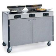 Lakeside Stainless Steel Creation Express Induction Three Stove Mobile Cooking Cart with Filter, 22 x 34 x 35 1/2 inch -- 1 each.