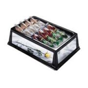 Lakeside Geneva Mirrored Side Insulated Beverage Display Bin, 13 3/4 x 24 x 6 3/4 inch Overall Size -- 1 each.