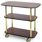 Lakeside Geneva Gray Sand Rectangular Service Cart, 16 x 42 3/8 x 35 1/4 inch Overall Size -- 1 each.