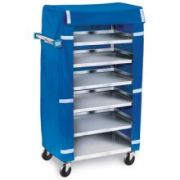 Lakeside Stainless Steel Economy Late Tray Delivery/Pick Up Cart with Cover, 18 3/8 x 30 3/4 x 46 inch -- 1 each.