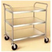 Lakeside Stainless Steel Medium Duty Traditional Series 3 Shelf Tubular Frame KD Unassembled Utility Cart, 21 x 33 inch Shelf -- 1 each.