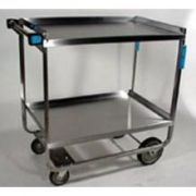 Lakeside Stainless Steel Heavy Duty NSF Traditional Utility Cart with 2 Shelves, 22 3/8 x 54 5/8 x 37 inch -- 1 each.