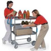 Lakeside Ergo One Series Heavy Duty Stainless Steel NSF Utility Cart with 3 Shelves, 21 5/8 x 41 3/8 x 46 3/4 inch -- 1 each.
