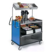Lakeside Stainless Steel Compact Mart Cart with Laminate Finish, 28 1/4 x 49 x 72 1/4 inch Overall Size -- 1 each.