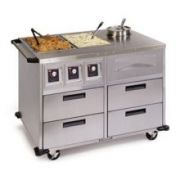 Lakeside Stainless Steel Serve All Mobile Food Serving Station, 34 1/2 x 51 1/4 x 37 inch -- 1 each.