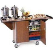 Lakeside Stainless Steel Drop Leaf Beverage Service Cart with Vinyl Finish, 24 x 44 5/16 x 38 5/16 inch Overall Size -- 1 each.