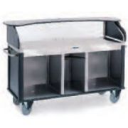 Lakeside Serv N Express Style 1 Stainless Steel Solid Top and Base Mobile Kiosk, 28 1/4 x 77 1/4 x 52 1/2 inch Overall Size -- 1 each.