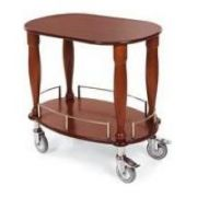 Lakeside Geneva Veneer Bordeaux Finish Serving Cart with 1 Shelf, 17 3/4 x 35 1/2 x 29 inch -- 1 each.