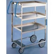 Lakeside Ergo One Series Heavy Duty Stainless Steel Utility Cart with 3 Shelves, 18 5/8 x 35 3/8 x 46 3/4 inch -- 1 each.