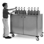 Lakeside Stainless Steel EZ Serve Condiment Cart with 8 Pumps, 27 1/2 x 50 1/4 x 49 1/2 inch -- 1 each.
