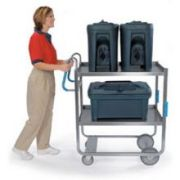 Lakeside Ergo One Series Heavy Duty Stainless Steel Utility Cart with 2 Shelves, 21 5/8 x 41 3/8 x 46 3/4 inch -- 1 each.