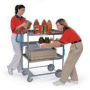 Lakeside Ergo One Series Heavy Duty Stainless Steel Utility Cart with 3 Shelves, 21 5/8 x 41 3/8 x 46 3/4 inch -- 1 each.