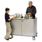Lakeside Stainless Steel EZ Serve Condiment Cart with 12 Pumps, 27 1/2 x 50 1/4 x 49 1/2 inch -- 1 each.