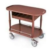 Lakeside Geneva Wood Veneer Spice Serving Cart with 1 Shelf, 17 3/4 x 35 1/2 x 29 inch -- 1 each.
