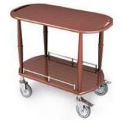 Lakeside Geneva Wood Veneer Spice Serving Cart with 1 Shelf, 17 3/4 x 35 1/2 x 32 1/4 inch -- 1 each.