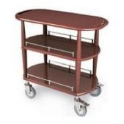 Lakeside Geneva Wood Veneer Spice Serving Cart with 2 Shelves, 17 3/4 x 35 1/2 x 32 1/4 inch -- 1 each.
