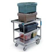 Lakeside Stainless Steel Heavy Duty Traditional Utility Cart with 2 Shelves, 19 3/8 x 32 5/8 x 35 1/2 inch -- 1 each.