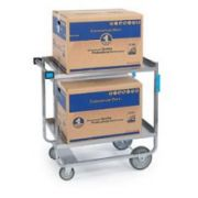Lakeside Stainless Steel Heavy Duty Traditional Utility Cart with 3 Shelves, 19 3/8 x 32 5/8 x 35 1/2 inch -- 1 each.