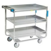 Lakeside Stainless Steel Heavy Duty Guard Rail Utility Cart with 3 Shelves, 22 3/8 x 38 5/8 x 37 1/4 inch -- 1 each.