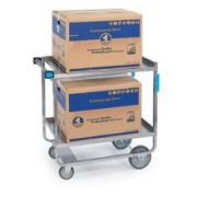 Lakeside Stainless Steel Heavy Duty Traditional Utility Cart with 2 Shelves, 22 3/8 x 38 5/8 x 37 1/8 inch -- 1 each.