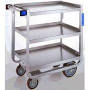Lakeside Traditional Series Stainless Steel Tough Transport Traditional Utility Cart with 3 Shelves, 18 x 27 inch Shelf -- 1 each.