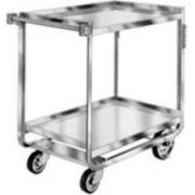 Lakeside Traditional Series Stainless Steel Tough Transport Traditional Utility Cart with 2 Shelves, 21 x 33 inch Shelf -- 1 each.