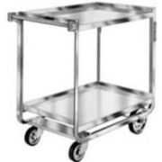 Lakeside Traditional Series Stainless Steel Tough Transport Traditional Utility Cart with 2 Shelves, 24 x 36 inch Shelf -- 1 each.