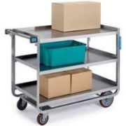 Lakeside Traditional Series Stainless Steel Tough Transport Traditional Utility Cart with 3 Shelves, 24 x 49 inch Shelf -- 1 each.