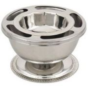 Alegacy Stainless Steel Supreme Bowl with Ring, 3 1/4 x 5 1/4 x 5 1/4 inch -- 1 each.