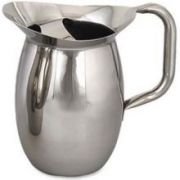 Alegacy 18/8 Stainless Steel Bell Pitcher with Ice Guard, 3 1/8 Quart -- 1 each.