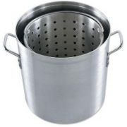 Alegacy Eagleware Aluminum Stock Pot with Lid and Basket, 40 Quart -- 1 each.