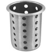Alegacy Stainless Steel Perforated Flatware Cylinder, 5 5/8 x 4 x 4 inch -- 1 each.