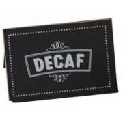 Cal Mil Decaf Chalkboard Write On Tent, 3 x 2 x 2 inch -- 12 per case.