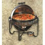 American Metalcraft Mesa Round Roll-Top Chafer, 6 Quart  -- 1 each.