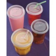 Carlisle Disposable Lid Only Fits 10 Ounce Bistro Tumbler 1110 and 8 Ounce Lorraine Tumbler 43648 -- 1000 per case.