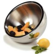 Carlisle Stainless Steel Double Wall Dual Angle Bowl, 5.75 Quart -- 1 each.