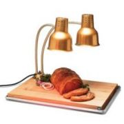 Carlisle Aluminum Gold FlexiGlow Dual Arm Heat Lamp with Board and Pan, 24 inch -- 1 each.