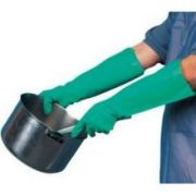 CrewWare Nitrile Rubber 25 Mil Green Pot and Sink Glove, 19 inch -- 1 Pairs