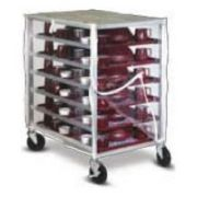 Dinex Clear Vinyl Transport Cover Only - Zippered Front Panel for DXDHOR12U Economy Tray Delivery Cart -- 1 each.