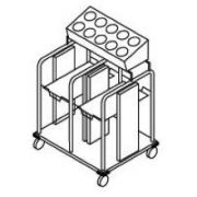 Dinex Shelf Style Tray and Silverware Dispenser, 43.19 x 28.38 x 53.75 inch -- 1 each.