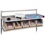 Dinex Straddle Style Starter Station - 7 Bin, 60 inch Long -- 1 each.