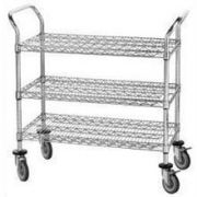 Wire Utility Cart 18 x 36 inch With Rubber Caster -- 1 each.