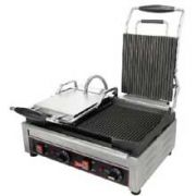 Cecilware Stainless Steel Single Flat Surface Sandwich/Panini Grill, 15.375 x 15.375 x 23.5 inch -- 1 each.