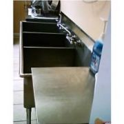 Aero 16 Gauge 430 Stainless Three Compartment Non NSF Sink -- 1 each.