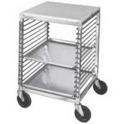 Channel Manufacturing Aluminum Wire Pan Slide All Welded Mobile Work Table, 31.5 x 20.5 x 25 inch -- 1 each.