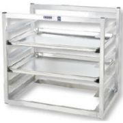 Channel Manufacturing Aluminum Wall Mounted Sheet Pan Rack, 21 x 28 1/2 x 18 inch -- 1 each.