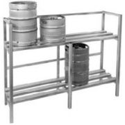 Channel Manufacturing Aluminum Keg Storage Rack, 55 x 71 1/2 x 20 inch -- 1 each.