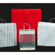 Kal Pac Corporation Plastic Loop Handle Shopping Bag - White, 16 x 6 x 18 x 6 inch -- 300 per case.